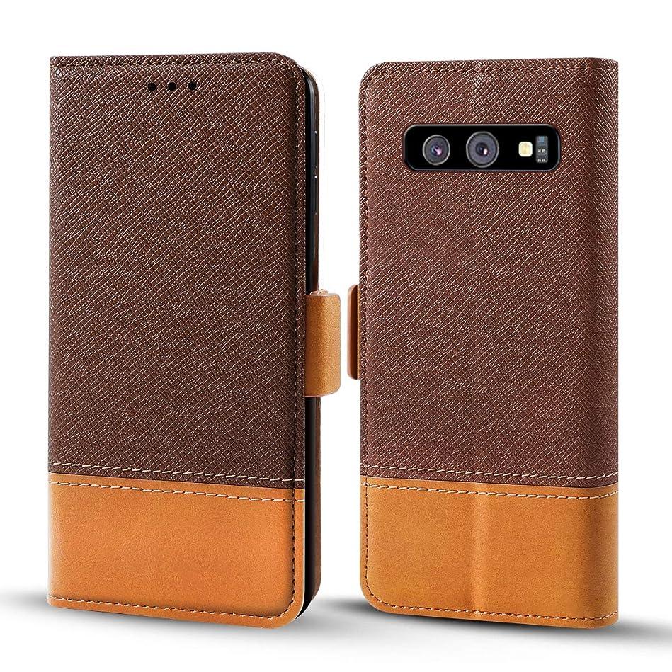 後継ストレージ誇りSamsung Galaxy S10 レザー 財布 シェル ?と 男性, Moonmini Samsung Galaxy S10 フリップ カバー, 男性, アンチスクラッチ シェル (Brown)