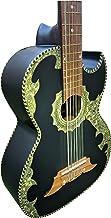 Bajo Sexto de Cedro Con Mica de Concha, Color Negro, 12 String Solid Wood w/Truss Rod BajoSexto, Hand Made in Mexico (Cedr...