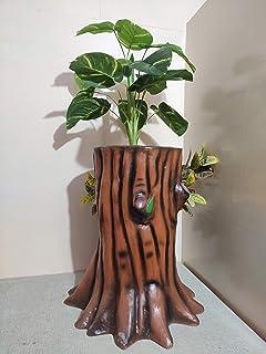 Kalpataru Fiber Flowerpot, Large-Size, Garden Planter, 31 x 16 x 30 Inch, Set of 1, Home Decor