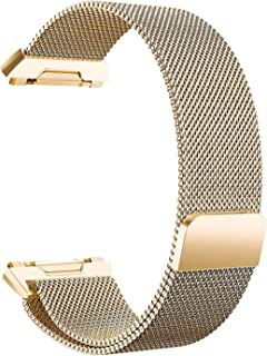 "Ionic Watch Strap, Yoking Magnetic Milanese Loop Stainless Steel Watch Band with Built-in Quick Release Adapter for Fitbit Ionic Sport Watch Small(5.5""-8.6"")/Large(6.1""-10.1"") Size"