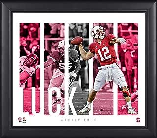 Andrew Luck Stanford Cardinal Framed 15