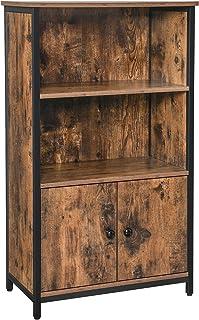 LEMOUGREE stile vintage con scomparto per giornali Appendiabiti da parete con ripiano in legno