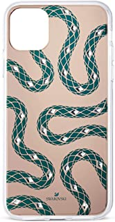 Swarovski Theatrical Collection Phone Case for iPhone 11 Pro Max, with Integrated Bumper, Green and Gold Tone Winding Snak...
