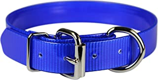 "OmniPet Sunglo Dee In front Pet Collar, 1"" x 27"", Blue"