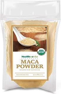 Healthworks Maca Powder Raw (8 Ounces) | Certified Organic |Flour Use |Keto, Vegan & Non-GMO |Premium Peruvian Origin | Breakfast, Smoothies, Baking & Coffee