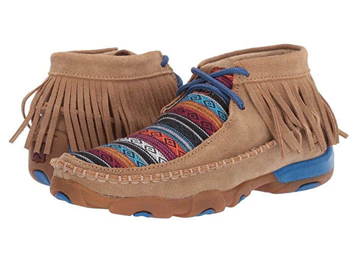 Twisted X  Driving Moc (Little Kid/Big Kid) (Serape Fringe) Shoes