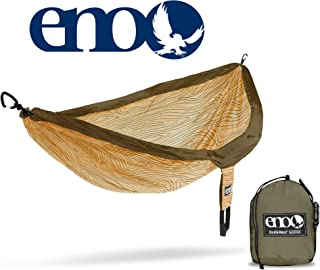 ENO - Eagles Nest Outfitters DoubleNest Print Portable Hammock for Two, Woodgrain/Sand
