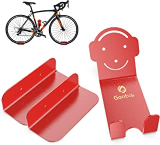 Update Bike Wall Mount Hanger, Heavy Duty Bicycle Storage Rack Holder for Garage and Apartment One Size Red GOOTUS0003