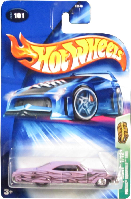 Hot Wheels Mattel 2004 Treasure Hunt 1 64 Scale 1965 Purple Pontiac Bonneville 1 12 Die Cast Car  101