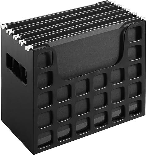 popular Pendaflex Portable Desktop File, online sale Side Handles, Hanging sale File Folders, Tabs & Inserts, Letter Size, 9-1/2 x 12-3/16 x 6 Inches, Black (23013) outlet sale