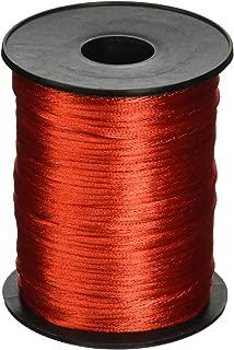 Red 2mm x 100 yards Rattail Satin Nylon Trim Cord Chinese Knot