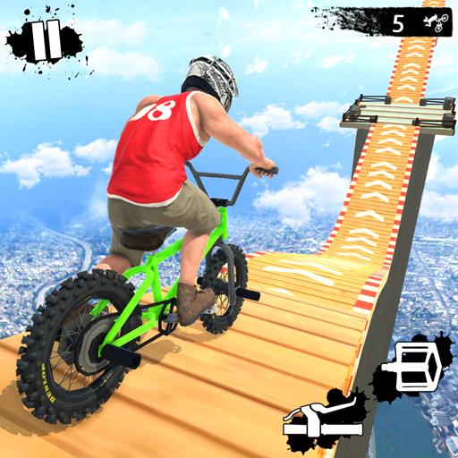 Mega Ramp Crash Stunts Challenge de course de vélo BMX