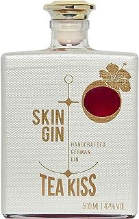 Skin Gin | Handcrafted German Gin | TEA Kiss | Manufaktur Gin aus dem Alten Land |Weiche, natürliche und tropisch angehauchte Aromen | 42% 500ML
