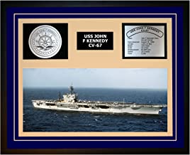Navy Emporium USS John F Kennedy CV 67 Framed Navy Ship Display Blue