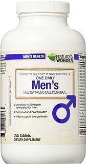 Nature's Wonder One Daily Men's Multivitamin, 365 Count, Compare vs. One A Day® Men's Health Formula