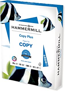 Hammermill Printer Paper, 20 lb Copy Plus, 8.5 x 11 - 1 Ream (500 Sheets) - 92 Bright, Made in the USA, 105007R