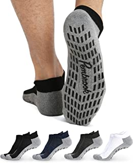 Calcetines de tobillo antideslizantes – (4 pares) – Calcetines antideslizantes para Barre Yoga Pilates Maternidad Embarazo...