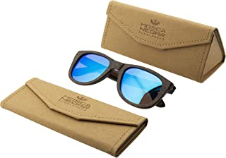 47eb7f5efb Gafas de sol madera MOSCA NEGRA modelo BROWN BAMBOO and Blue - Polarized -  Unisex