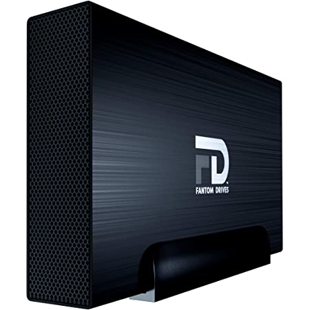 Fantom Drives 1TB External Hard Drive - USB 3.2 Gen 1-5Gbps - GForce 3 Aluminum - Black - Compatible with Mac/Windows/PS4/Xbox (GF3B1000U) by Fantom Drives