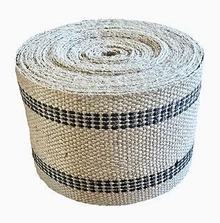 Jute Webbing for Upholstery & Crafts (Black Stripe, 12 Yards)