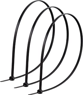 PowerGear, Black, Cable Ties, 20-Inch Long, 25-Pack, Nylon Plastic, 5 1/3-Inch Maximum Diameter, Durable, Self-Locking, 13...