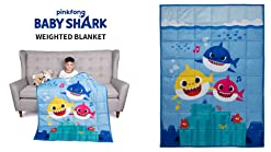 4.5lb 36 x 48 Fountain of Tooth Blue W Baby Shark Kids Weighted Blanket