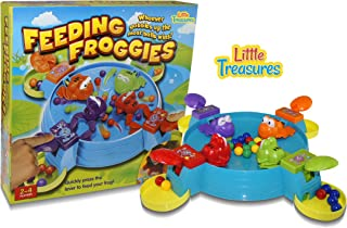 Little Treasures Feeding Frog Game, Feed The Hungry Froggies Before The Other Froggies Eat Up All The Balls Fun Kids 3D Board Game