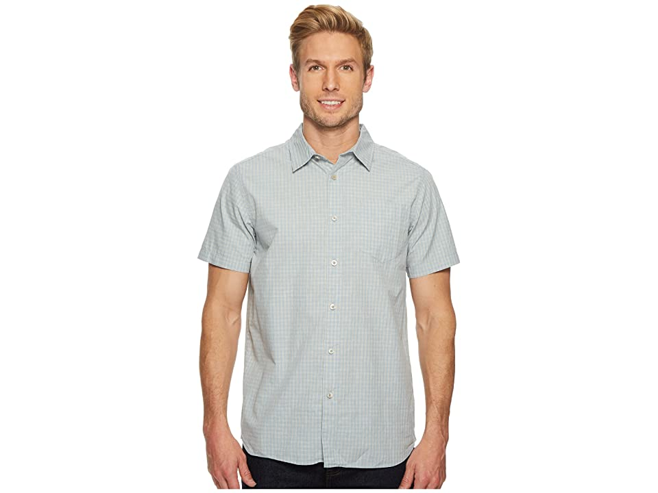 The North Face Short Sleeve Shadow Gingham Shirt (Dusty Blue) Men