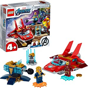 LEGO Marvel Avengers Iron Man vs. Thanos 76170 Cool, Collectible Superhero Building Toy for Kids Featuring Marvel Avengers Iron Man and Thanos Minifigures, New 2021 (103 Pieces)