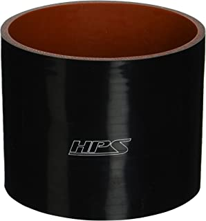 HPS HTSC-450-L4-BLK Silicone High Temperature 4-ply Reinforced Straight Coupler Hose, 45 PSI Maximum Pressure, 4
