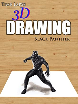 Clip: Time Lapse 3D Drawing: Black Panther