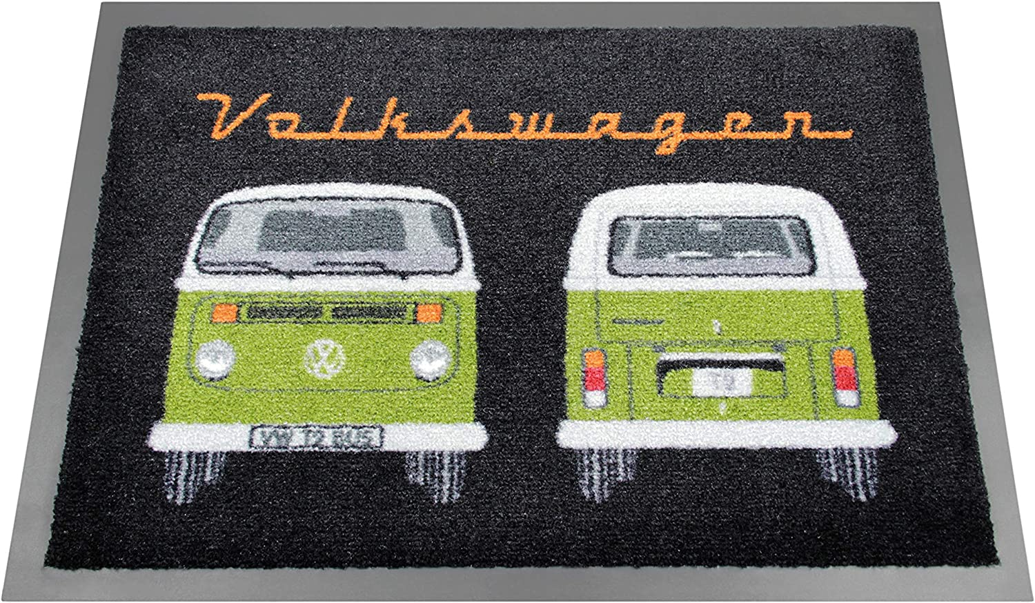 BRISA VW Collection VW T2 Bus Doormat, 70x50cm - Front & Back Green