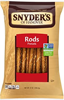 Snyder's of Hanover Pretzel Rods, 12 Ounce (Pack of 12)