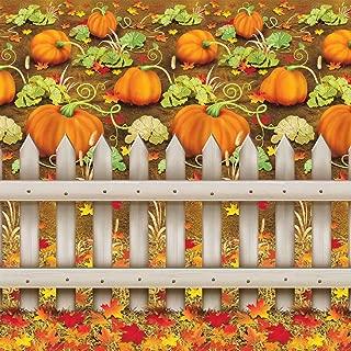 Beistle 1-Pack Decorative Pumpkin Patch Backdrop, 4-Feet by 30-Feet