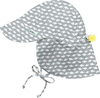 i play. by green sprouts Baby Boys' Flap Hat | All-Day UPF 50+ Sun Protection for Head, Neck, & Eyes