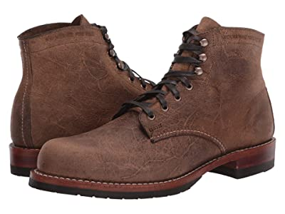 Wolverine Heritage Original 1000 Mile Evans Boot (Brown Waxy Suede) Men
