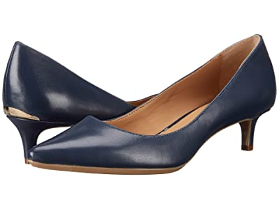 Calvin Klein Gabrianna Pump (Navy Leather) Women