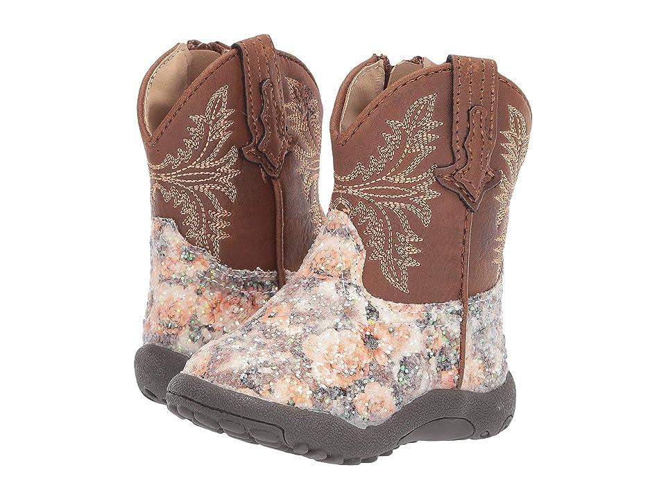 Roper Kids Claire (Infant/Toddler) (Floral Vamp/Brown Shaft) Cowboy Boots