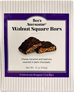 See's Candies 12 oz. Awesome Walnut Square Bars