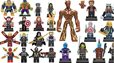 Thanos Minifigure Endgame Infinity Gauntlet SuperHero Figures Compatible LEGO US