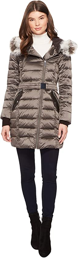Asymmetrical Moto Jacket with Sherpa