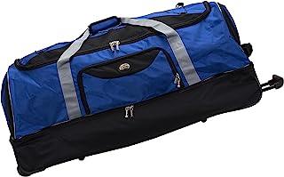 Rockland Drop Bottom Rolling Duffel Bag, Navy, 40-Inch