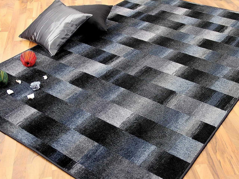 Designer Velour Teppich Teppich Teppich Mystic Karo Blau Grau Anthrazit in 24 Größen B00J3FHIGC 6f1d62