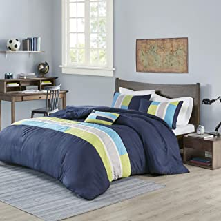 MI ZONE Duvet Modern Casual Vibrant Colorblock Design All Season Comforter Cover Teen Bedding, Boys Bedroom Décor, Twin/Tw...