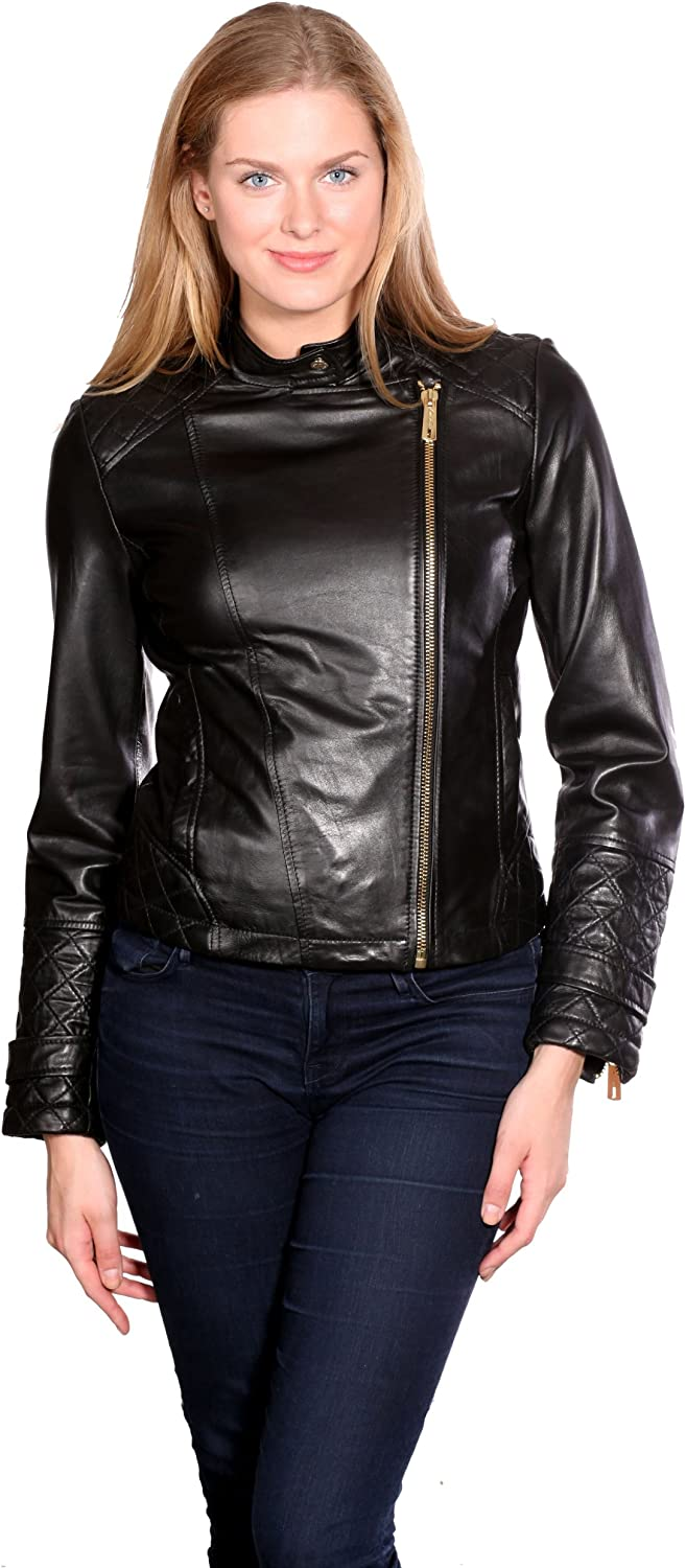 Kenneth Cole Women's Moto Leather Jacket