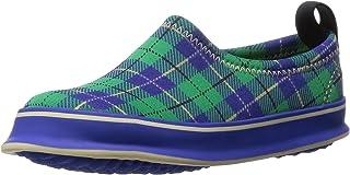 [スキッポン] 子ども 靴 タータンチェックネイビー(グリーン) SKP-0039-17 (ソール 青) 17cm