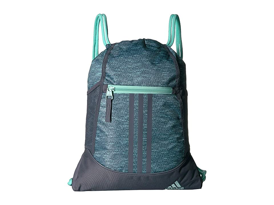 adidas Alliance II Sackpack (Clear Mint Jersey Fleck/Onix/Clear Mint) Backpack Bags
