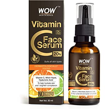WOW Skin Science Vitamin C Serum - Skin Clearing Serum - Brightening, Anti-Aging Skin Repair, Supercharged Face Serum, Dark Circle, Fine Line & Sun Damage Corrector, Genuine 20% - 30ml