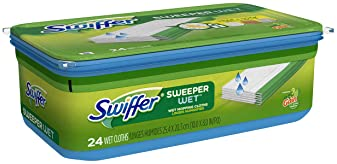 Swiffer Sweeper Wet Mop, Floor Mopping and Cleaning Refills, Gain Scent, 24 Count