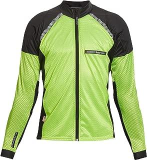 Bohn All-Season Airtex Armored Riding Shirt - High Visibility Yellow - X-Large
